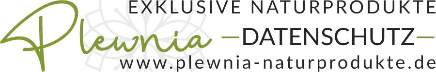 Sie sehen eine Adaption des Plewnia Naturprodukte Logos für den Datenschutz.